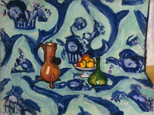Henri Matisse. Still life with blue tablecloth