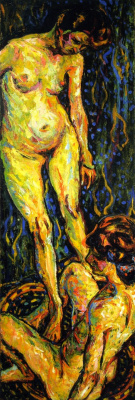 Ernst Ludwig Kirchner. Two Nudes II