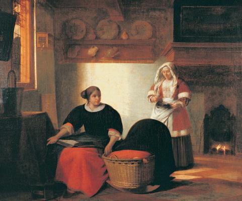 Pieter de Hooch. Sick child