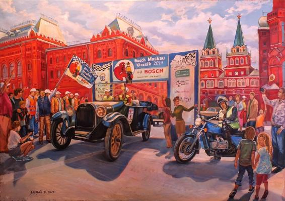 Dariya Zakharova. Oldtimer rally
