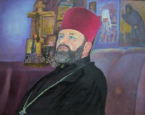 """Alexander Fedorovich Vazhnev. """"BATYUS"""", portrait (in the world) V.A. Korchagin."""