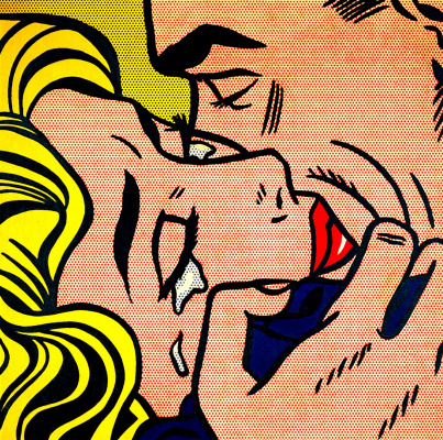 Roy Liechtenstein. Kiss