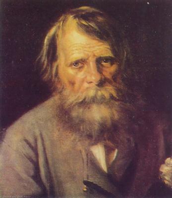 Vasily Grigorievich Perov. Portrait of a peasant (male portrait)