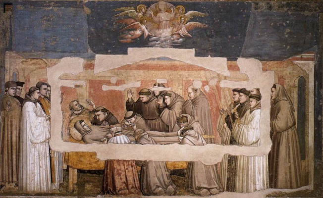 Giotto di Bondone. The death and ascension of St. Francis. Scenes from the life of St. Francis