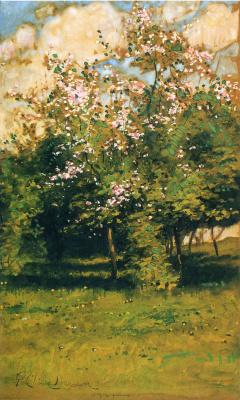 Childe Hassam. Flowering trees