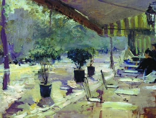 Konstantin Korovin. Paris cafe