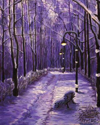 Vladimir Adamovich Ropot. Night park