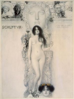 Gustav Klimt. Allegory of sculpture II