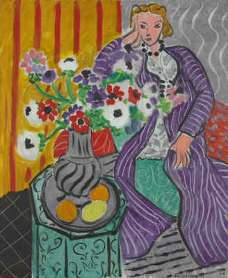 Henri Matisse. Purple robe and anemones