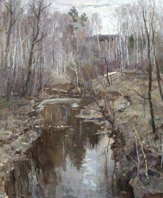 Борис Петрович Захаров. Снег сошел в Лосином острове.