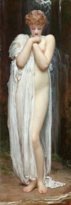 Frederic Leighton. Kreneid, the nymph of the river Dargl