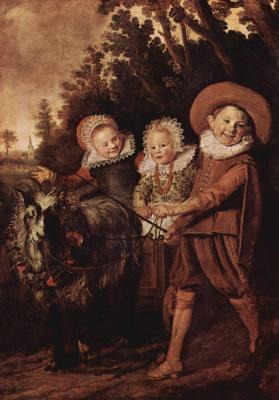 Франс Халс. Дети с козлом и повозкой