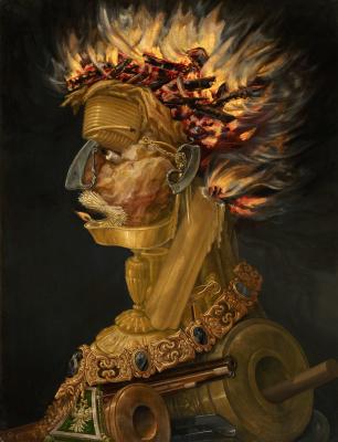 Giuseppe Arcimboldo. Four elements. Fire