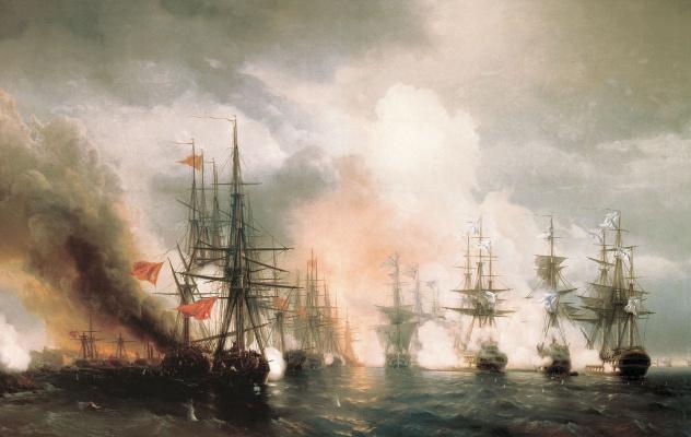Ivan Constantinovich Aivazovski. Sinop battle