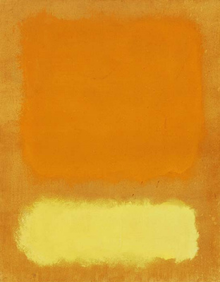 Rothko Mark. Untitled (Orange and yellow)