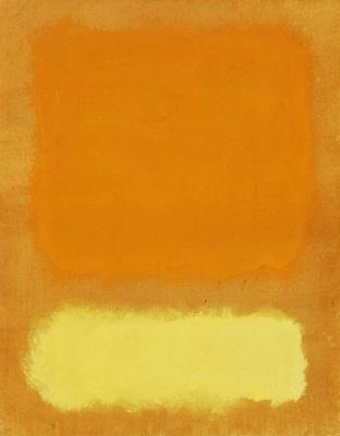 Rothko Mark. Untitled (Orange and yellow)