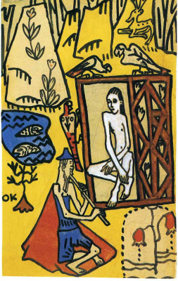 Oskar Kokoschka. Nude girl