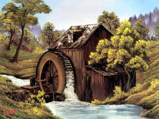 Bob Ross. Old mill