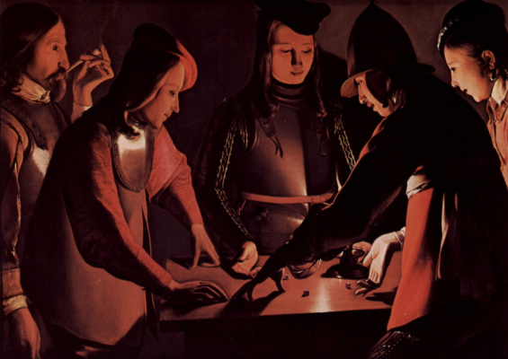 Georges de La Tour. The dice