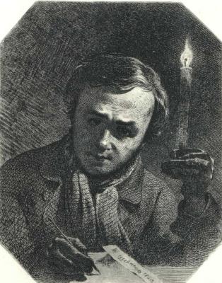 Taras Grigorievich Shevchenko. Self-portrait with a candle