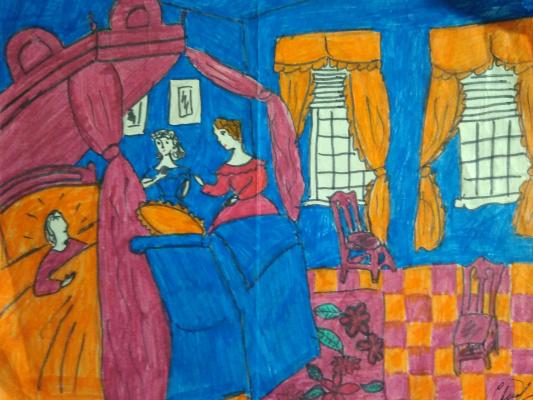 N. Stepi. Мой первый рисунок