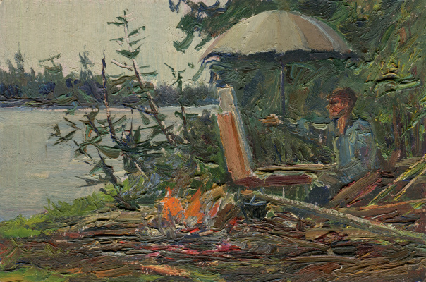 "Vasily Fadeevich Demin. Study ""Artist at Work"""