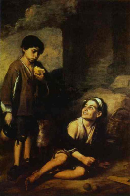 Бартоломе Эстебан Мурильо. Два крестьянских мальчика
