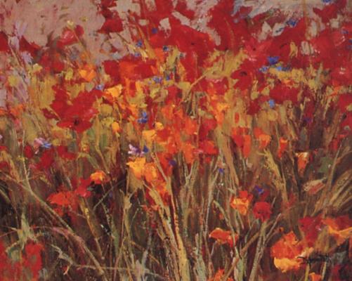 Диана Айнсворт. Маки и цветы