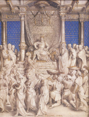 Hans Holbein The Younger. Solomon and the Queen of Sheba