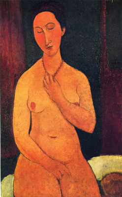 Amedeo Modigliani. Seated Nude with coral necklace
