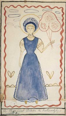 Мари Лорансен. Женщина в синем платье
