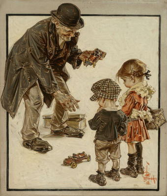 Joseph Christian Leyendecker. Toy seller