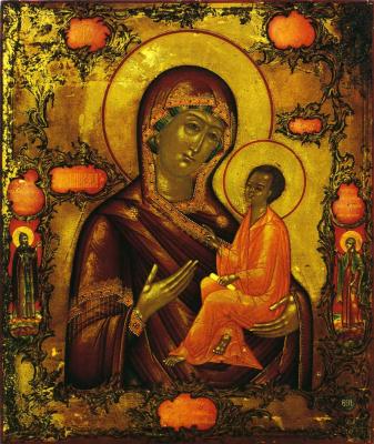 Icon Painting. Our Lady of Tikhvin (Nevyansk, Bogatyrev Workshop)