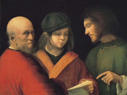 Giorgione. Three age men