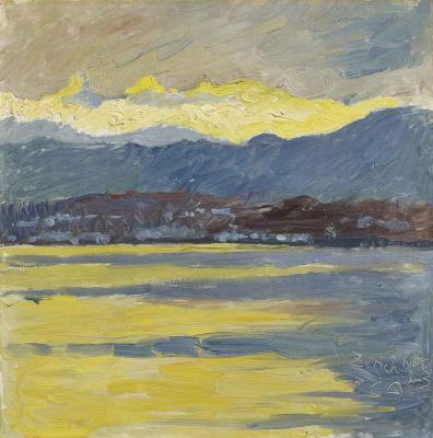 Куно Амье. Раннее утро на Цюрихском озере