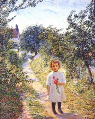 Перри. Маленькая девочка в переулке