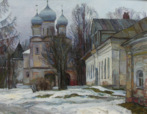 Oleg Borisovich Zakharov. The color of winter, Borisogleb city.