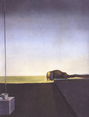 Salvador Dali. The true picture of the Island of the dead Arnold Bocklin. The Hour Of The Angel