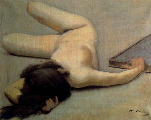 Ramon Casas i Carbó. Reclining nude and picture