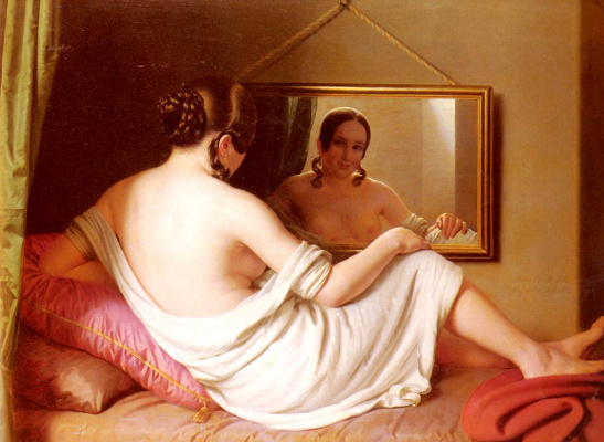 Антон Эинсл. Женщина перед зеркалом