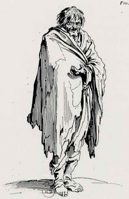 Жак Калло. Нищий-босяк