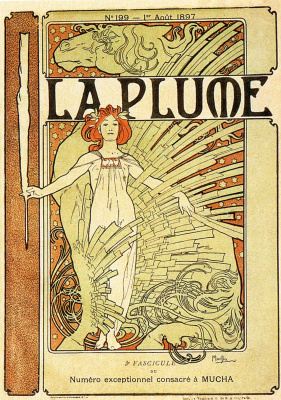 Alphonse Mucha. Pen. Cover of the French literary and art magazine