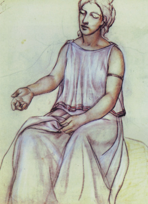 Kuzma Sergeevich Petrov-Vodkin. The woman in the chiton. Etude