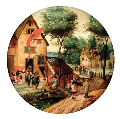 Питер Брейгель Младший. Праздник Святого Георгия (круг)
