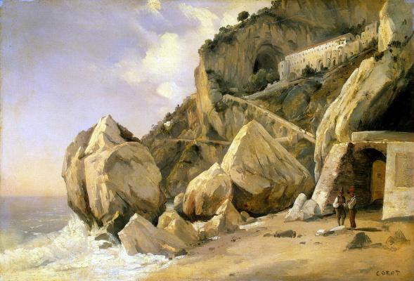 Camille Corot. Rocks in Amalfi