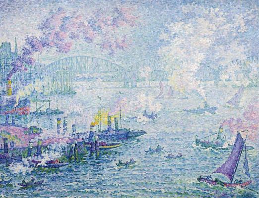 Paul Signac. Ships in Rotterdam