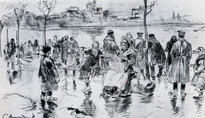 Sergey Arsenievich Vinogradov. The river