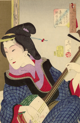 """Воспитанная учительница музыки периода Каеи. Серия """"32 женских лика повседневности"""""""