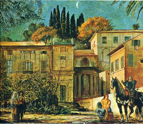 Giorgio de Chirico. Knight on horseback