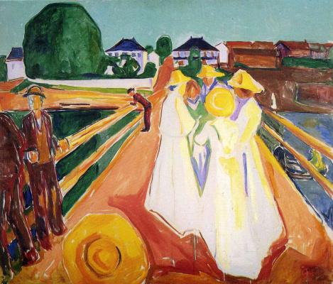 Edvard Munch. Women on the bridge